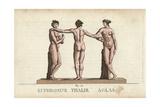 Euphrosyne, Thalia and Aglaea, the Three Graces Giclee Print by Leonard Defraine