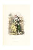 Peach Flower Fairy, Prunus Persica Giclee Print by Jean Ignace Grandville