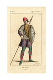 French Soldier, 9th Century Giclee Print by Leopold Massard