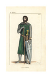 French Soldier, 11th Century Giclee Print by Leopold Massard