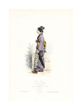 Japanese Woman in Kimono and Geta, Town Costume, Tokyo, 1868 Giclee Print by Hippolyte Pauquet
