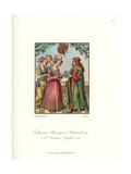Catherine of Brunswick-Wolfenbuttel Receiving a Book Giclee Print by Jakob Heinrich Hefner-Alteneck