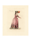 French Woman Wearing the Fashion of May 1792 Giclee Print by Auguste Etienne Guillaumot