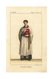 Vestments of a Priest, 6th Century Giclee Print by Leopold Massard