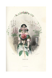 Camellia Flower Fairy, Camellia Japonica Giclee Print by Jean Ignace Grandville