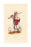 Afghan Soldier Wearing Turban, Shalwar Tunic, Kameez Trousers Giclee Print