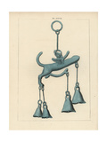 Bronze Votive Phallus from Herculaneum, Giclee Print by A. Delvaux