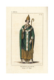 Prudentius or Galindo, Bishop of Troyes Giclee Print by Leopold Massard