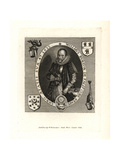 William Burton, Antiquary of Falde in Staffordshire, in 1622 Giclee Print by F. Delarum