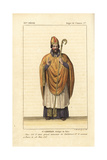 Saint Germain, Bishop of Paris Giclee Print by Leopold Massard