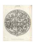 Astronomical Chart of the Northern Hemisphere Giclee Print by L. Hebert