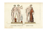 Castor and Pollux, and Hercules, Greek and Roman Gods Giclee Print by Leonard Defraine
