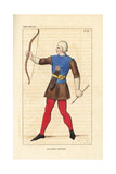 French Infantry Archer, 13th Century Giclee Print by Leopold Massard