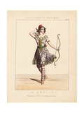 Amazon Warrior, Theatrical Costume, 19th Century Giclee Print by Thomas Hailes Lacy