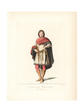 Military Costume of a Tuscan Gentleman, 15th Century Giclee Print by Paul Mercuri