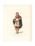 Military Costume of a Tuscan Gentleman, 15th Century Giclee Print by Paul Mercuri