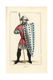 French Soldier, 14th Century Giclee Print by Leopold Massard