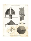 Designs for a Rotative Roof for an Astronomical Telescope Giclee Print by J. Farey