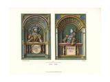 Stove Tiles Depicting Knights Named Holofernes and Josua Giclee Print by Jakob Heinrich Hefner-Alteneck