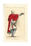 Military Costume, 12th Century Giclee Print by Leopold Massard