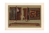 Japanese Koto or 13-String Harp Made of Kiri Wood Giclee Print by Alfred James Hipkins