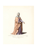 Costume of a Spanish Noble Woman, 15th Century Giclee Print by Paul Mercuri
