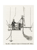 Henry Giffard with His Steam-Powered Motor, 1852 Giclee Print