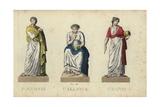 Polyhymnia, Calliope and Urania, Greek Muses Giclee Print by Leonard Defraine