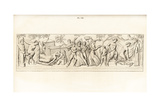 Marble Bas-Relief of a Bacchanalia Giclee Print by A. Delvaux