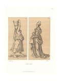 Women's Costumes of the First Half of the 16th Century Giclee Print by Jakob Heinrich Hefner-Alteneck