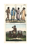 Costumes of the Baraabra People, Sudan Giclee Print