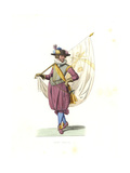 Standard Bearer, 17th Century Giclee Print by Edmond Lechevallier-Chevignard