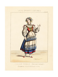 Italian Woman, National Costume, 19th Century Giclee Print by Thomas Hailes Lacy