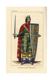 Geoffrey V, Plantagenet, Count of Anjou, 1113-1151 Giclee Print by Leopold Massard