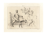 Bas-Relief of the God Pan Riding a Mule Giclee Print by A. Delvaux