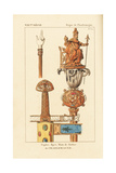 Sceptre, Sword and Hand of Justice of Charlemagne Giclee Print by Leopold Massard