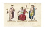 Comus, Themis and Momus, Greek Gods Giclee Print by Leonard Defraine