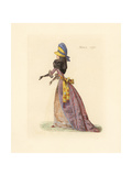French Woman Wearing the Fashion of March 1790 Giclee Print by Auguste Etienne Guillaumot