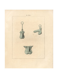 Bronze Phallic Amulets Giclee Print by A. Delvaux