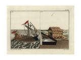 Roman Warship with Corvus and War Machine Giclee Print by Robert von Spalart