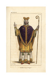 Ulger or Ulgerius, Bishop of Angers Giclee Print by Leopold Massard