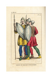 French Infantry Soldiers, 10th Century Giclee Print by Leopold Massard