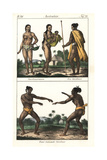 Carolinian Natives of the Marianas Giclee Print