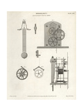 Astronomical Clock by the Scottish Clockmaker Thomas Reid Giclee Print by J. Farey