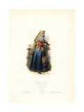 Woman of Cervera, Kingdom of Naples, 1830 Giclee Print by Polydor Pauquet