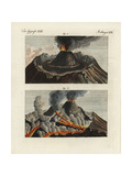 Views of the Crater of Mt Vesuvius Giclee Print