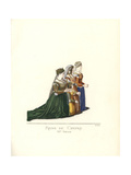 Catherine Cornaro, Queen of Cyprus with Venetian Ladies Giclee Print by Paul Mercuri