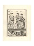 The Roman Goddesses Latona, Niobe, Phoebe, Aglaia and Hileaera Giclee Print by Tommaso Piroli