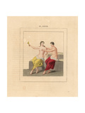 Fresco from Herculaneum, Erotic Scene Giclee Print by A. Delvaux