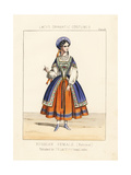 Russian Woman, National Costume, 19th Century Giclee Print by Thomas Hailes Lacy